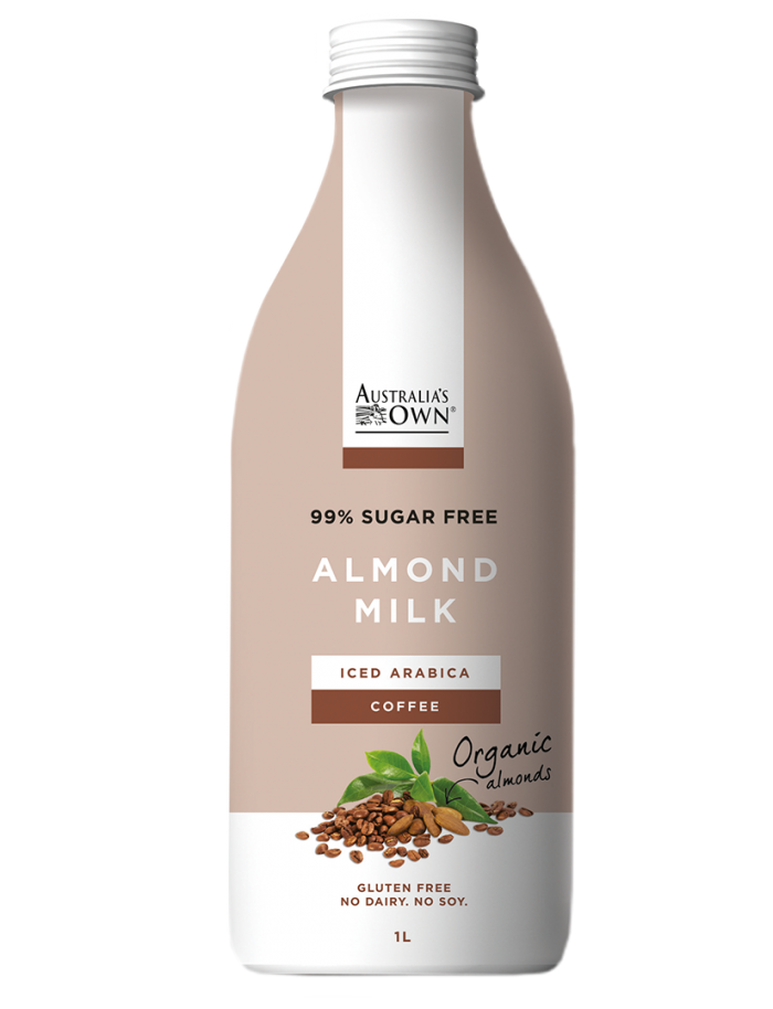 Australias Own Flavoured Almond Milk - Iced Arabica Coffee