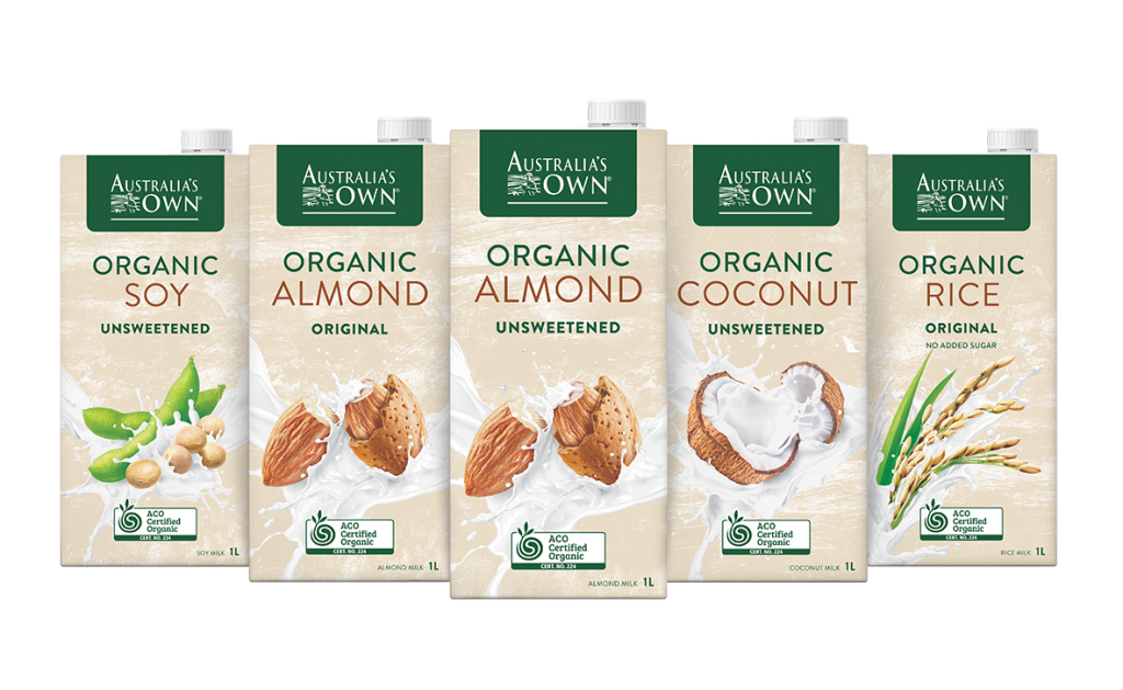 New look Australia's Own Organic Plant Milk range