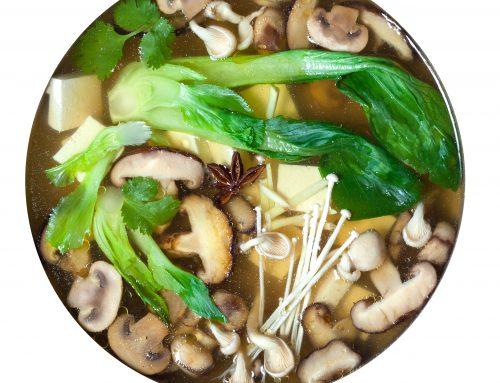 Wild Mushroom & Bok Choy Soup